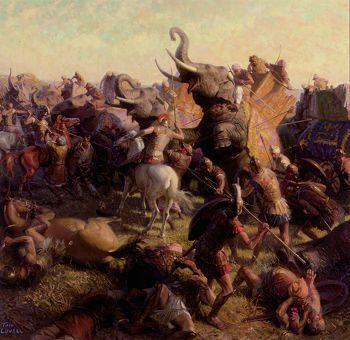 Image result for александр макидонский и слон воин