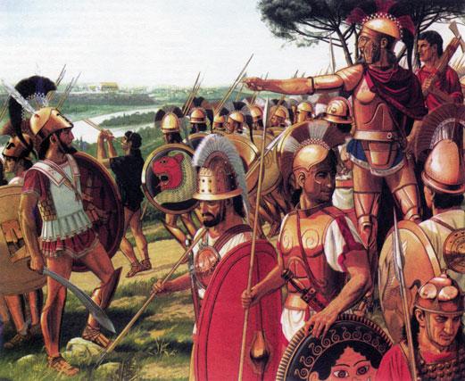 Ларс Порсена, этрусский царь Клузия и его войско взирают на Рим с Яникула
