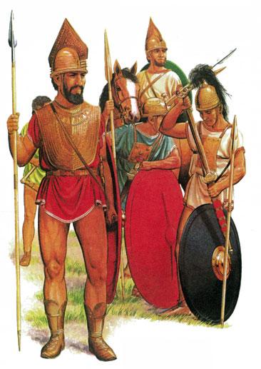 Группа воинов VIII в. до н.э., относящихся к культуре вилланова